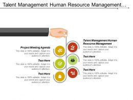Talent Management Human Resource Management Project Meeting Agenda Cpb