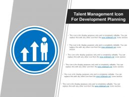 Talent Management Icon For Development Planning Sample Of Ppt