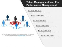 Talent Management Icon For Performance Management Ppt Diagrams