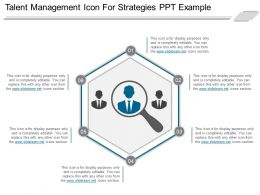 Talent Management Icon For Strategies Ppt Example