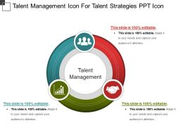 Talent Management Icon For Talent Strategies Ppt Icon
