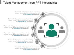 Talent Management Icon Ppt Infographics