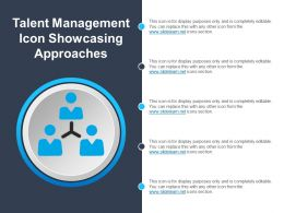 Talent Management Icon Showcasing Approaches Ppt Ideas