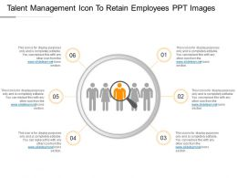 Talent Management Icon To Retain Employees Ppt Images