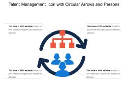 Talent Management Icon With Circular Arrows And Persons