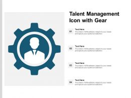 Talent Management Icon With Gear