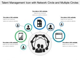 Talent Management Icon With Network Circle And Multiple Circles