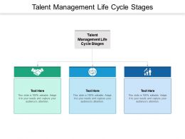 Talent Management Life Cycle Stages Ppt Powerpoint Presentation Layouts Backgrounds Cpb