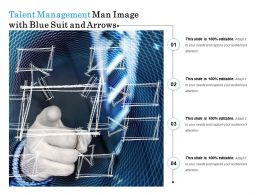 Talent Management Man Image With Blue Suit And Arrows
