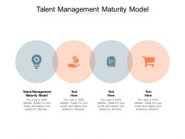 Talent Management Maturity Model Ppt Powerpoint Presentation Infographics Ideas Cpb