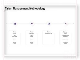 Talent Management Methodology Process Ppt Powerpoint Presentation Layouts