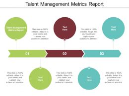 Talent Management Metrics Report Ppt Powerpoint Presentation Infographics Slides Cpb