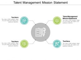 Talent Management Mission Statement Ppt Powerpoint Presentation Gallery Ideas Cpb