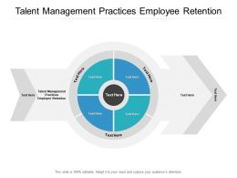Talent Management Practices Employee Retention Ppt Powerpoint Presentation Inspiration Cpb