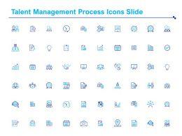 Talent Management Process Icons Slide Ppt Powerpoint Presentation Inspiration Clipart Images
