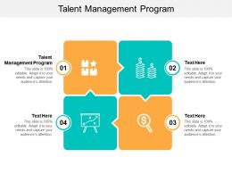Talent Management Program Ppt Powerpoint Presentation Icon Infographic Cpb