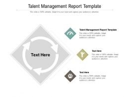 Talent Management Report Template Ppt Powerpoint Presentation Layouts Templates Cpb
