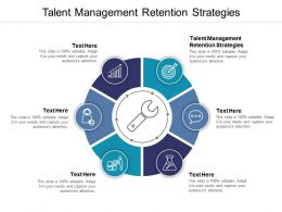 Talent Management Retention Strategies Ppt Powerpoint Presentation Gallery Slides Cpb