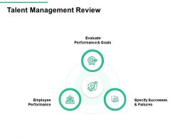 Talent Management Review Failures Goals Performance Ppt Powerpoint Presentation Slides