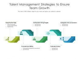Talent Management Strategies To Ensure Team Growth