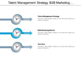 Talent Management Strategy B2b Marketing Metrics Monthly Report Cpb
