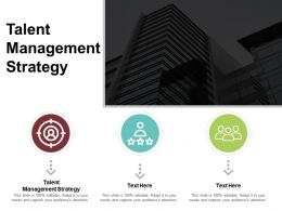 Talent Management Strategy Ppt Powerpoint Presentation File Show Cpb