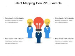 Talent Mapping Icon Ppt Example