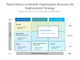 Talent Matrix To Identify Organization Resource For Improvement Strategy