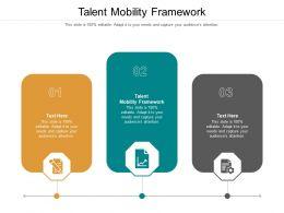 Talent Mobility Framework Ppt Powerpoint Portfolio Graphics Design Cpb