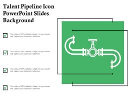 Talent Pipeline Icon Powerpoint Slides Background