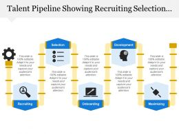 Talent Pipeline Showing Recruiting Selection Developing Maximizing
