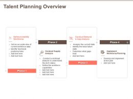 Talent Planning Overview Work Status Ppt Powerpoint Presentation Icon Graphics Example