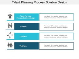 Talent Planning Process Solution Design Ppt Powerpoint Presentation Layouts Information Cpb