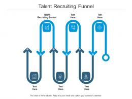 Talent Recruiting Funnel Ppt Powerpoint Presentation Infographics Model Cpb