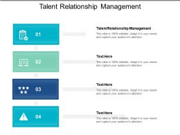 Talent Relationship Management Ppt Powerpoint Presentation Infographics Model Cpb