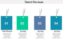 Talent Reviews Ppt Powerpoint Presentation Layouts Templates Cpb
