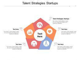 Talent Strategies Startups Ppt Powerpoint Presentation Slides Elements Cpb