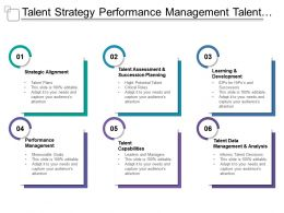 Talent Strategy Performance Management Talent Capabilities