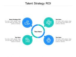 Talent Strategy ROI Ppt Powerpoint Presentation Tips Cpb