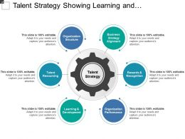 Talent Strategy Showing Learning And Development Organization Performance