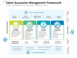 Talent Succession Management Framework