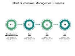 Talent Succession Management Process Ppt Powerpoint Presentation Show Gallery Cpb