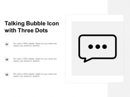 Talking Bubble Icon With Three Dots