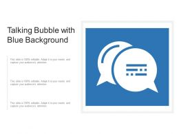 Talking Bubble With Blue Background