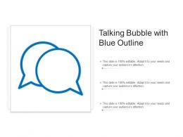Talking Bubble With Blue Outline
