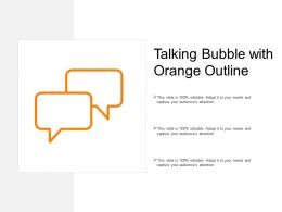 Talking Bubble With Orange Outline