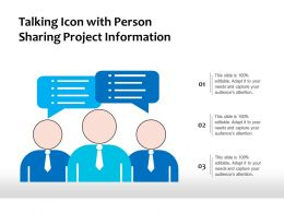 Talking Icon With Person Sharing Project Information
