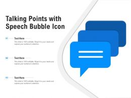 Talking Points With Speech Bubble Icon