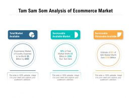 Tam Sam Som Analysis Of Ecommerce Market