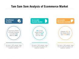 Tam Sam Som Analysis Of Ecommerce Market